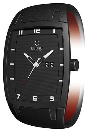 Men's wrist watch Obaku V114GBBRB - 1 image, photo, picture